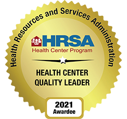 Health Resources and Services Administration Quality Leader badge