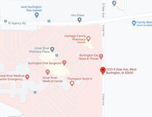 Map thumbnail of Burlington Pediatrics